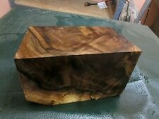 WB-WALNUT BURL DELUXE  KNIFE BLOCK/SCALES/ CALLS/ PEN BLANKS--W--2