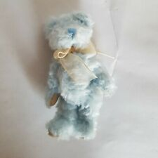 Boyds Bears Teddy Jointed Blue Yellow Bow RARE