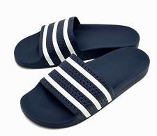 fb5d574e3 adidas Adilette Mens UK 9 EU 43 Navy Blue   White Slides Sliders Mule  Sandals
