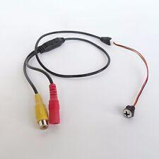 white screw pinhole nanny camera micro hidden HD 1000TVL wired spy camera +power
