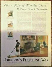 Johnson's polishing wax ad 1927 original vintage 1920s print illustration maid