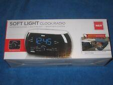 RCA RC220 Soft Light Alarm Clock Radio With Dual Wake, New!