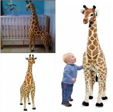 Giant Stuffed Giraffe Lifelike Plush Toy Big Realistic Animal Over 4 Feet Tall