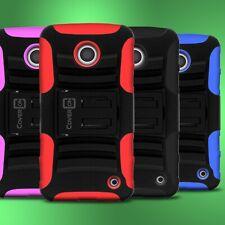 For Nokia Lumia 635 - Kickstand Clip Holster Cover Hybrid Phone Cover Case