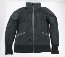 Lululemon Women's Run Back On Track Jacket Size 12 Black Hooded