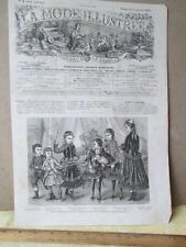 VIntage Print,CHILD FASHION.La Mode Illustrated,1876