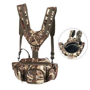 Tourbon Game Hunting Backpack Molle Bag Harness Waist Pack Pouch Case Camping