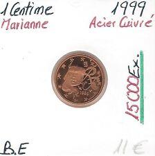 1 CENTIME D'EURO - MARIANNE (15 000 Ex) FRANCE - 1999 // Qualité: BELLE EPREUVE