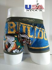 Ed Hardy Men's Underwear Bulldog Army Collection Short Boxer Briefs Size M