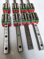 2 sets HGR20-1000/1500mm Hiwin Linear rail & 8 pcs HGH20CA Block Bearing