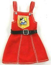 Barbie Vintage Disney Red Jumper Black Belt w/Mickey Mouse Decal