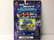 1:64 SCALE MUSCLE MACHINES - 1969 BOSS 302 FORD MUSTANG 03-72 - RARE !
