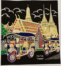 Tuk Tuk Auto Rickshaw Thai Art Silk Painting Poster Print Home Decor Handmade