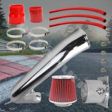 "1991-1994 240 SX Chrome Pipe Cold Air Intake System Kit w/ 2.75"" Red Air Filter"