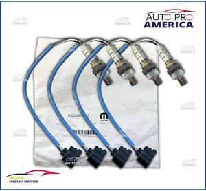 (4) OEM Mopar 2004-2012 Chrysler Jeep Dodge Ram O2 Oxygen Sensors 5033500AA