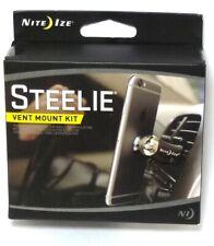 Nite Ize Steelie Lüftungsschlitz Magnetisch Set für Smartphones, Schwarz