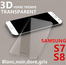 Vitre Protection VERRE Trempé Incurvé Film Ecran Samsung Galaxy S7 S8 Plus S9 3D