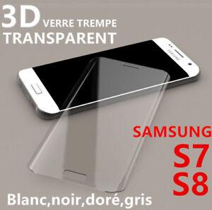 Vitre Protection VERRE Trempé Incurvé Film Ecran Samsung S7 S8 Plus S9 S10 20 3D