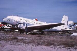 35mm Aircraft Slide USM 12422 Douglas C-117D Skytrooper H&MS-37 MASDC 1977