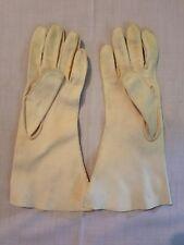 Vintage Women's Crescendoe Leather Gloves Beige Size 6.5