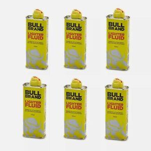 6 x Bull Brand Lighter Fluid Refill 100ml Smoking Premium Petrol Clipper Zippo