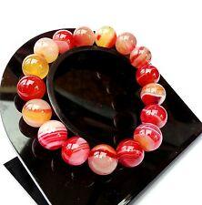 Bracelet Agate Rouge Minéral en Pierre Naturelle Bijoux lithothérapie Pour Femme