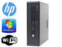 HP EliteDesk 800 G1 SFF/Intel i7-4770 3.4GHz 16gb RAM 256GB SSD Win 10 Pro WIFI