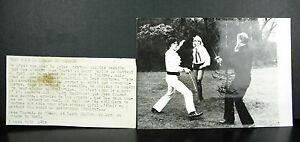 Mars 1972 Jess Conrad & Larry Taylor Fight Photograph Agip R Cohen