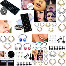 Surgical Steel Horseshoe Bar Lip Hoop Nose Septum Ear Ring Stud Pierced Jewelry