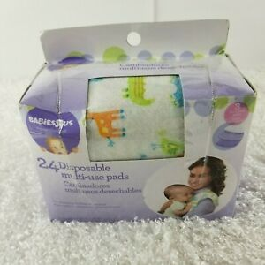 Babies R Us 24 disposable multi use baby pads OPEN BOX changing feeding burp