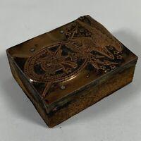 Vtg Improved Order of Red Men Eagle Emblem Printing Print Block, Copper & Wood
