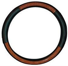 WOOD LEATHER Effect Steering Wheel Cover fits HYUNDAI