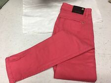 BCBG Maxazria Pink Mia Pant Geranium Skinny Jeans Bright Spring Summer Size 25