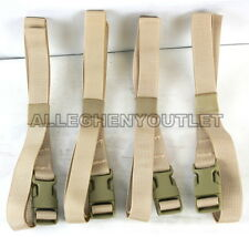 "NEW 4 Molle Q/R Adjustable LASHING STRAPS Cargo Straps Desert Tan DCU 1"" x 68"""
