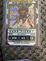 2020-21 James Harden Panini Contenders Green Explosion #2 Draft Picks Variation