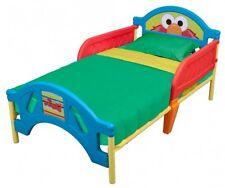 Sesame Street Kids Bed Child Children Toddler Crib Bedroom Rails No Mattress
