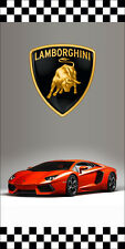 LAMBORGHINI AUTO DEALER VERTICAL AVENUE POLE BANNER SIGNS