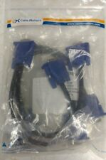 Cable Matters 2 Pack VGA Monitor Y-Splitter Cable for Screen Duplication 1 Foot