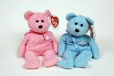 TY Beanie Baby Bears IT'S A GIRL/IT'S A BOY - Mint - Retired