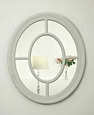 Olivia White Oval Wall Mirror 60 X 70cm