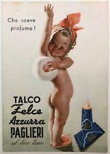 TALCO FELCE AZZURRA PAGLIERI cartolina pubblicitaria illustratore Boccasile