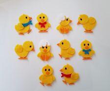 x10 Chick Embellishments.Felt Die cuts.Easter crafts.Easter embellishments