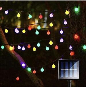 Liwiner Solar String Garden Lights Multicolured 16ft 50 led 8 Modes Waterproof