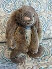 """JELLYCAT 9"""" Plush BASHFUL BUNNY Woodland Rabbit Pink Nose Brown and Beige"""