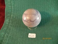 "ONE SODALITE STONE SPHERE 2"" OR 50MM (NEW) W/PEDESTAL-- M-17"