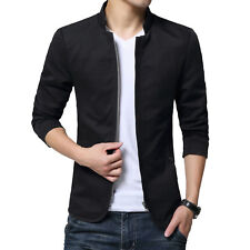 Stylish Mens Jacket Slim Fit Collar Coat Fashion Casual Outwear Blazer Outerwear