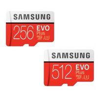 New Samsung EVO Plus 256GB 512GB UHS-I Micro SDHC SDXC SD Flash TF Card 100MB/s
