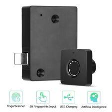 Smart Biometric Fingerprint Lock Home Office Drawer Cabinet Wardrobe Lock Anti