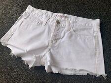 J BRAND White Cut-Off Jean Denim Shorts - Women's 25 (Suit 8-10AU)