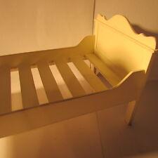 Artisan Fabriqué en Bois Lit Simple ~ maison de poupées miniature ~ échelle 1/12th